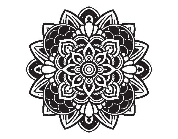 Coloriage de Mandala décoratif pour Colorier
