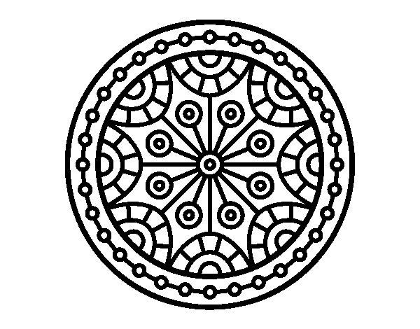 Coloriage de Mandala équilibre mental pour Colorier
