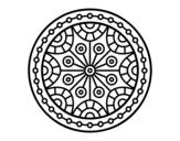 <span class='hidden-xs'>Coloriage de </span>Mandala équilibre mental à colorier