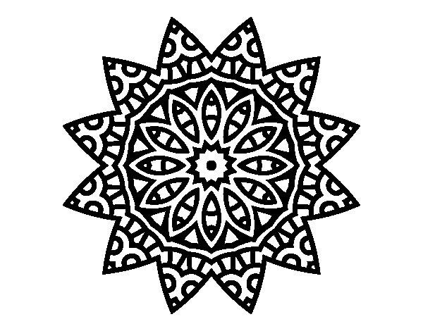 Coloriage de Mandala étoile pour Colorier