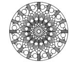 <span class='hidden-xs'>Coloriage de </span>Mandala fleur avec des cercles à colorier