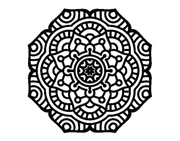 Coloriage de Mandala fleur conceptuel pour Colorier