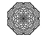 <span class='hidden-xs'>Coloriage de </span>Mandala fleur conceptuel à colorier