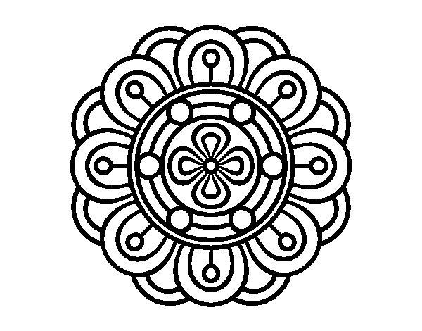 Coloriage de Mandala fleur créative pour Colorier