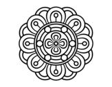 <span class='hidden-xs'>Coloriage de </span>Mandala fleur créative à colorier