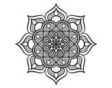 <span class='hidden-xs'>Coloriage de </span>Mandala fleur de feu à colorier