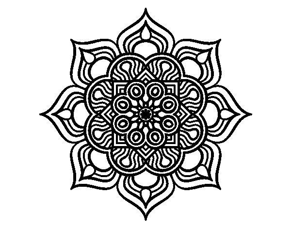 Coloriage De Mandala Fleur De Feu Pour Colorier