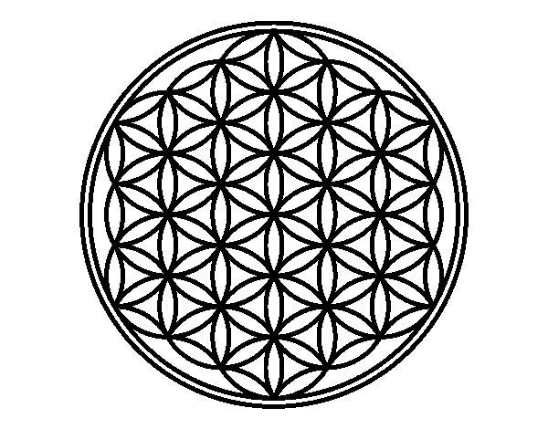 Coloriage de Mandala fleur de vie pour Colorier