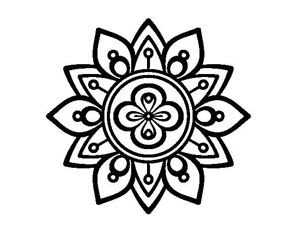 Coloriage de Mandala fleur du lotus pour Colorier