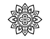 <span class='hidden-xs'>Coloriage de </span>Mandala fleur du lotus à colorier