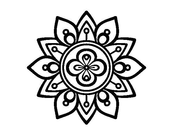 Favorit Coloriage de Mandala fleur du lotus pour Colorier - Coloritou.com YP69