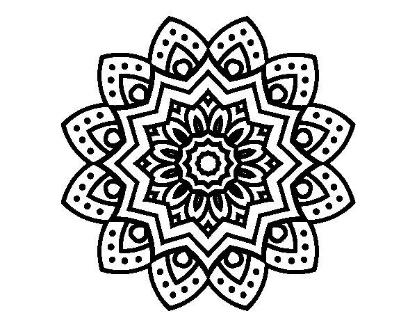 Coloriage de Mandala fleur naturel pour Colorier