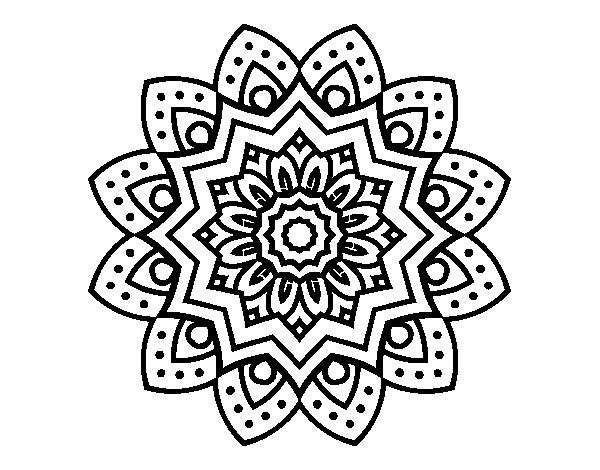 Coloriage de mandala fleur naturel pour colorier - Mandala fleur ...
