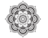 <span class='hidden-xs'>Coloriage de </span>Mandala fleur oriental à colorier