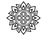 <span class='hidden-xs'>Coloriage de </span>Mandala fleur simple à colorier