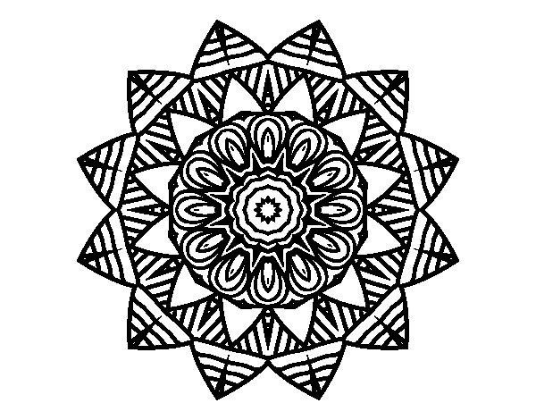 Coloriage de Mandala fruitiers pour Colorier