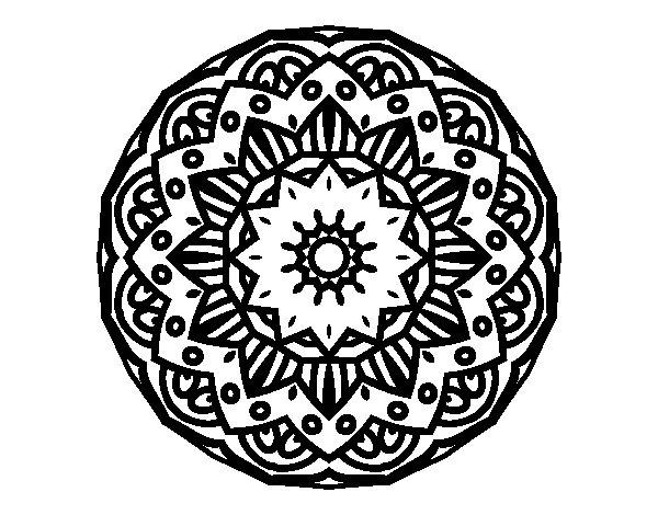 Coloriage de Mandala moderniste pour Colorier