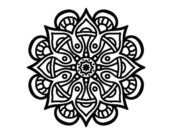 Coloriage de Mandala monde arabe pour Colorier