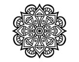 <span class='hidden-xs'>Coloriage de </span>Mandala monde arabe à colorier