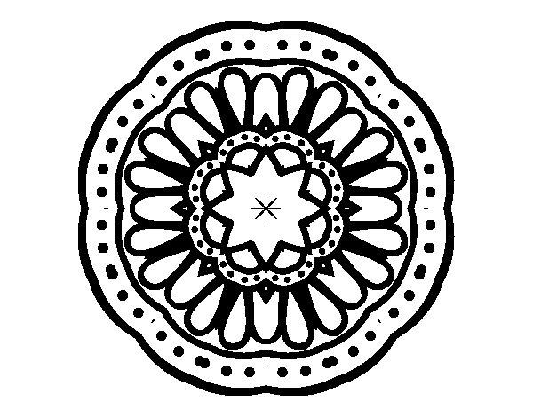 Coloriage de Mandala mosaïque pour Colorier