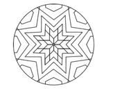 <span class='hidden-xs'>Coloriage de </span>Mandala mosaïque étoile à colorier