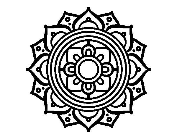 Coloriage de Mandala mosaïque grecque pour Colorier
