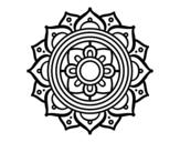 <span class='hidden-xs'>Coloriage de </span>Mandala mosaïque grecque à colorier