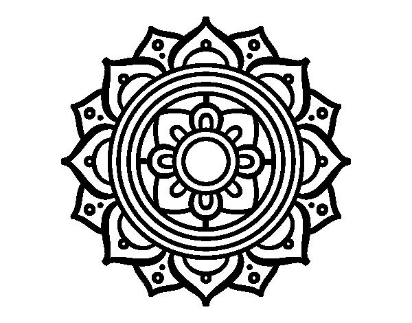 Coloriage de mandala mosa que grecque pour colorier - Colorier un mandala ...