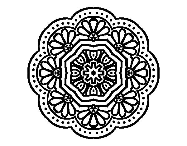 Coloriage de mandala mosa que moderniste pour colorier - Dessin mosaique a imprimer ...