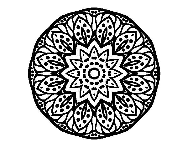 Coloriage de Mandala nature pour Colorier