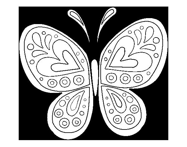 Coloriage de Mandala papillon pour Colorier - Coloritou.com