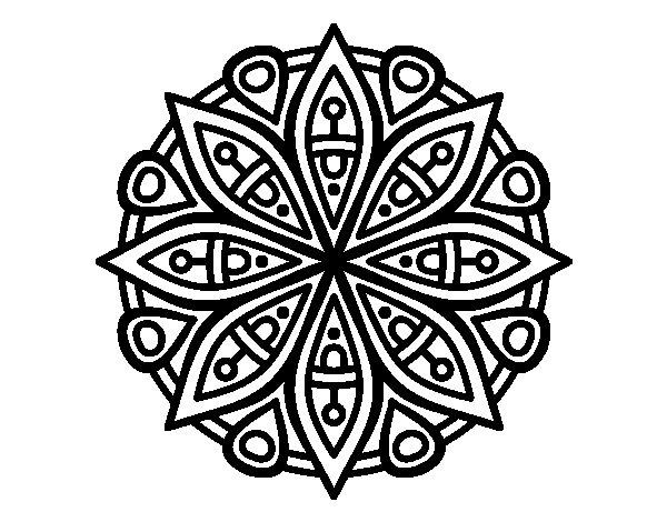 Coloriage de Mandala pour la concentración pour Colorier