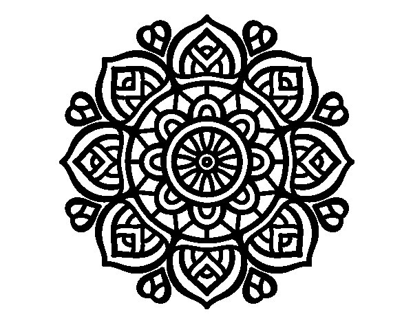 Coloriage de Mandala pour la concentration mental pour Colorier