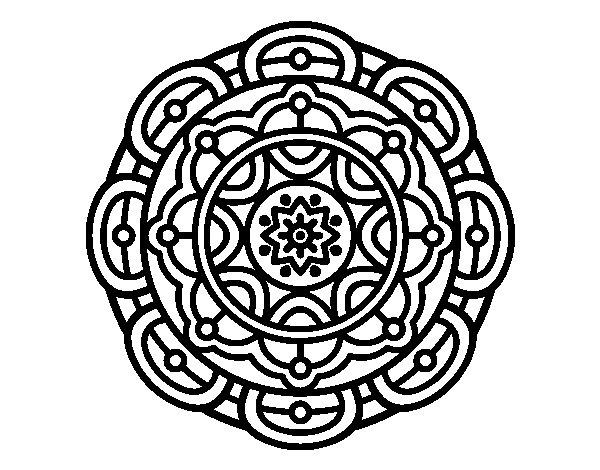Coloriage de Mandala pour la relaxation mentale pour Colorier