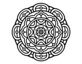 <span class='hidden-xs'>Coloriage de </span>Mandala pour la relaxation mentale à colorier