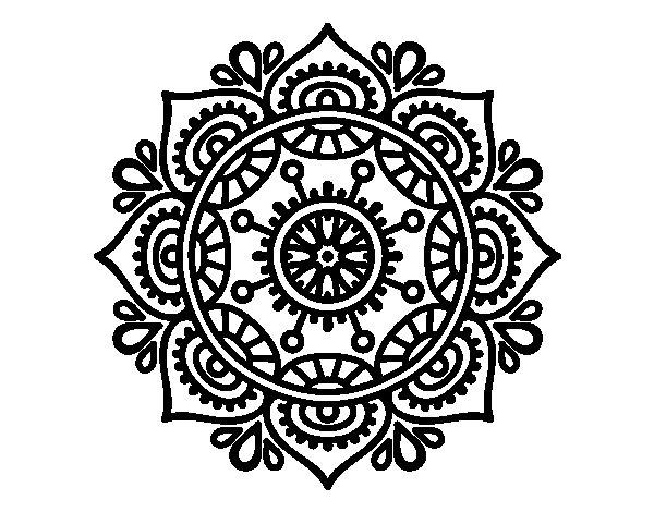 Coloriage de Mandala pour se détendre pour Colorier