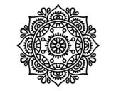 <span class='hidden-xs'>Coloriage de </span>Mandala pour se détendre à colorier