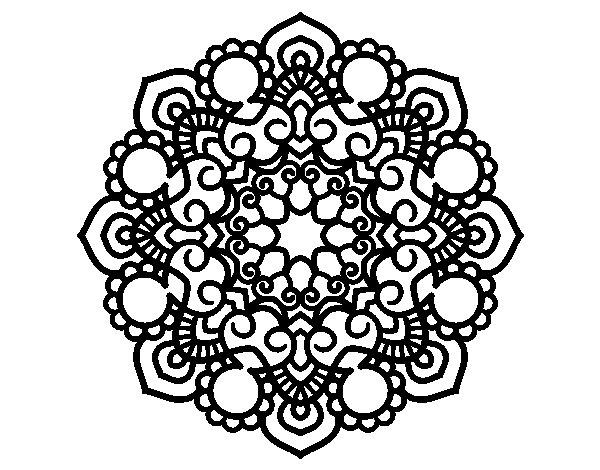 Coloriage de Mandala réunion pour Colorier