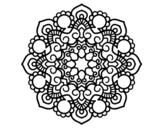 <span class='hidden-xs'>Coloriage de </span>Mandala réunion à colorier