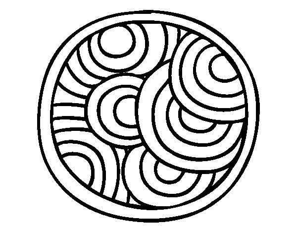 Coloriage de Mandala ronde pour Colorier