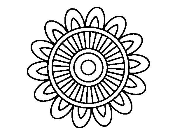 Coloriage de Mandala solaire pour Colorier