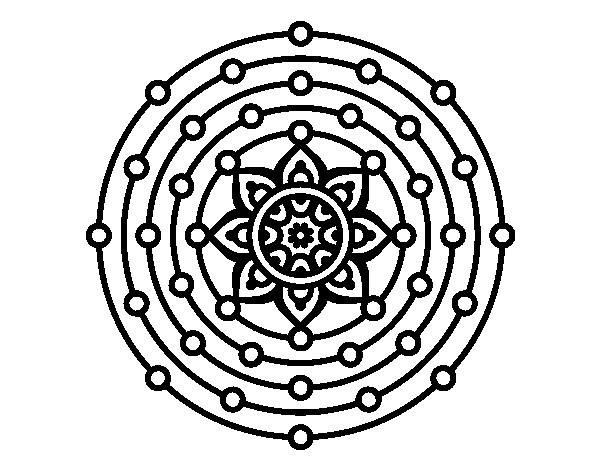 Coloriage de Mandala système solaire pour Colorier