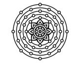 Dibujo de Mandala système solaire