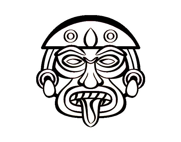 Coloriage de masque azt que pour colorier - Dessin azteque ...