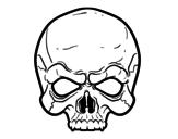 <span class='hidden-xs'>Coloriage de </span>Masque de crâne à colorier