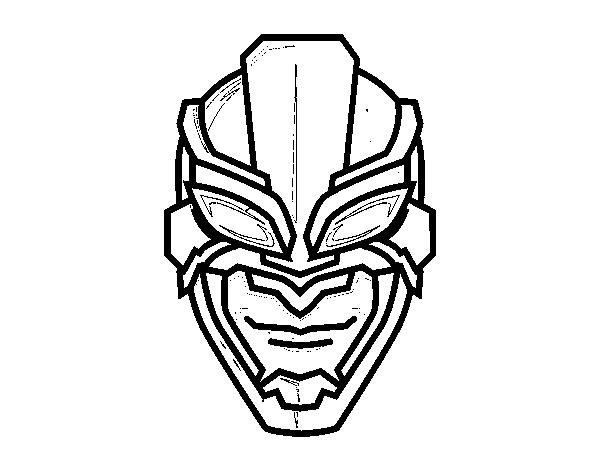 Coloriage De Masque De Super Héros Pour Colorier