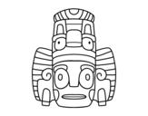 Dibujo de Masque mexicain des rituels