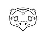 Dibujo de Masque mexicain d'oiseau