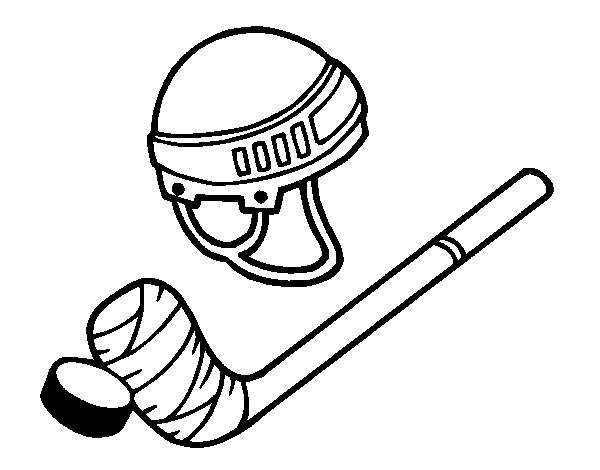 Dibujos Para Colorear Jugador De Hockey: Coloriage De Matériel De Hockey Pour Colorier