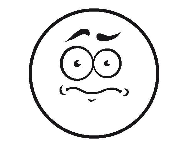 Coloriage de mauvais sentiment smiley pour colorier - Dessins de smiley ...